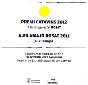 Premi Catavins 2012 Rosat AVilamajo